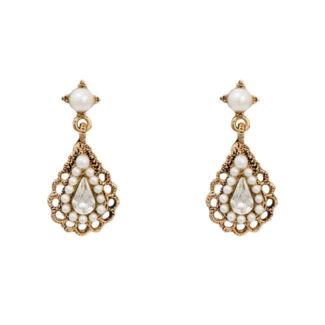 festive-fancies-GlitzySecrets.com - Antique Pearl Earrings - £18