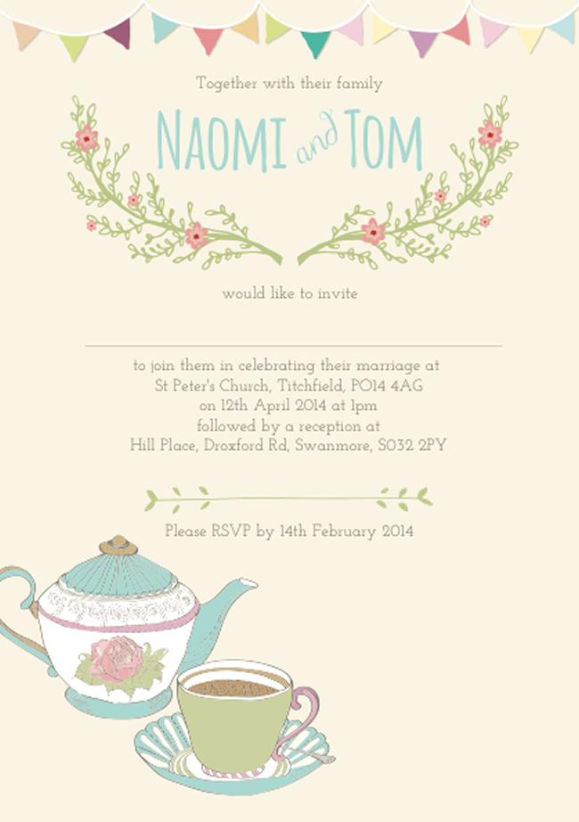 teaparty-stationery-littleposyprint.co.uk Tom & Naomi back