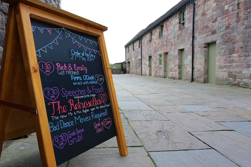 whyte-weddings-budget-friendly-5. www.whyteweddings-uk.com - Chalkboard - from ú85