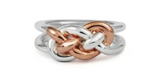 Entwined knot ring-mix