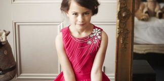 Little Misdress (Aged 5-12) 'Bright Pink ' £50 at www.little-mistress.co.uk model 2