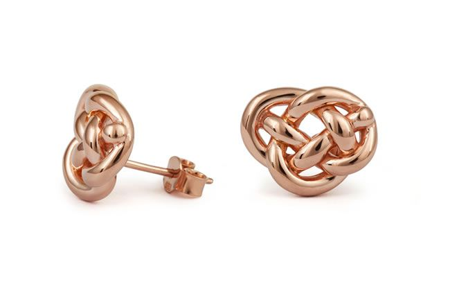 Love knot earrings-front