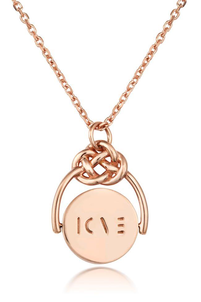 Love knot spinner love pendant rg-front