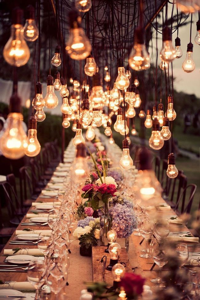 WIM Industrial Style Lighting found on Found on modwedding.com