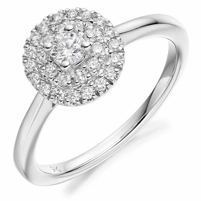 beaverbrooks-downton-abbey-1919 9ct White Gold Diamond Ring
