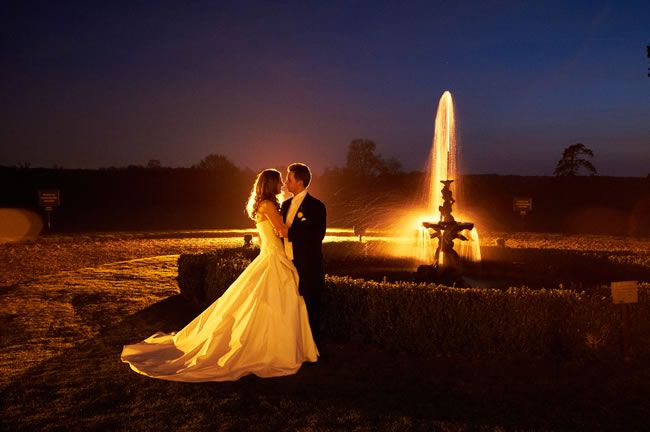 country-house-weddings-advertorial-GH - Night Kiss by Fountain
