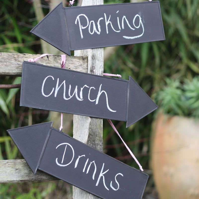 10-wedding-decorations-no-reception-Blackboard Arrow Signs 8 each The Wedding of my Dreams