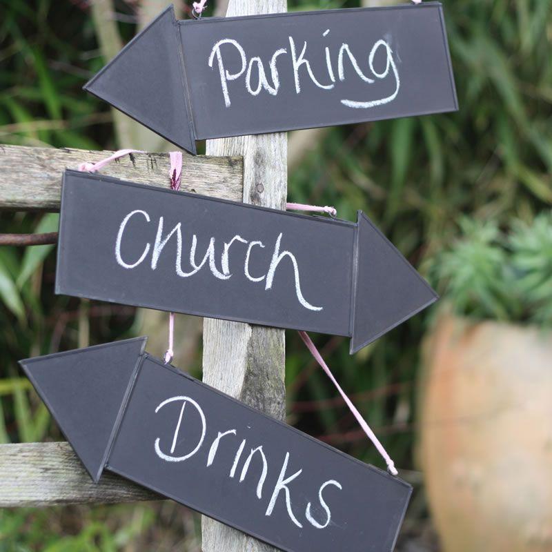 10-wedding-decorations-no-reception-Blackboard Arrow Signs 8 each The Wedding of my Dreams