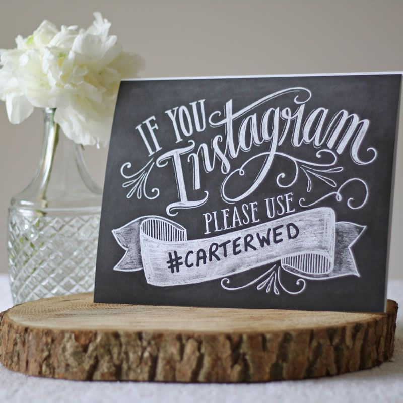 10-wedding-decorations-no-reception-wedding hashtag instagram print £19 The Wedding of my Dreams