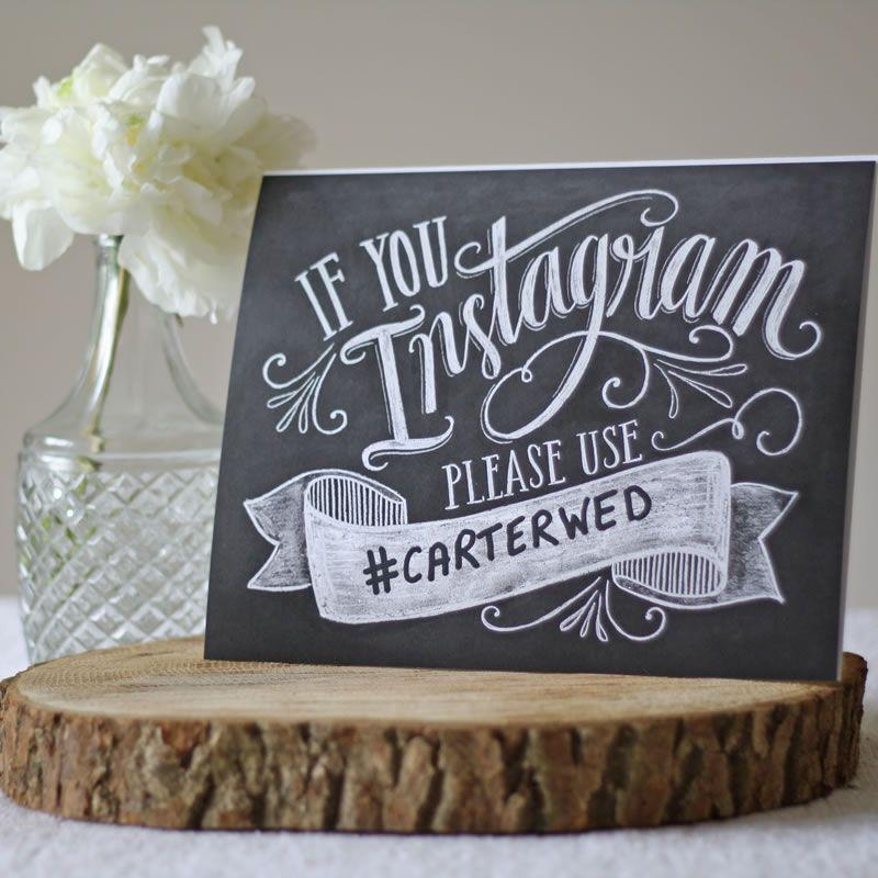 10-wedding-decorations-no-reception-wedding hashtag instagram print £19 The Wedding of my Dreams
