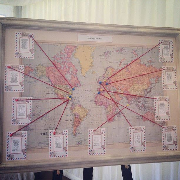 10-wedding-decorations-no-reception-world map wedding table plan 1