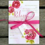 ivy-ellen-2015-Rosa Belly Band Wedding Invitation from 1.95 www.ivyellen.com