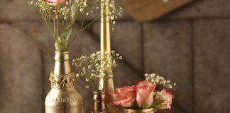 Rust-Oleum Wedding Bottle Table Arrangement