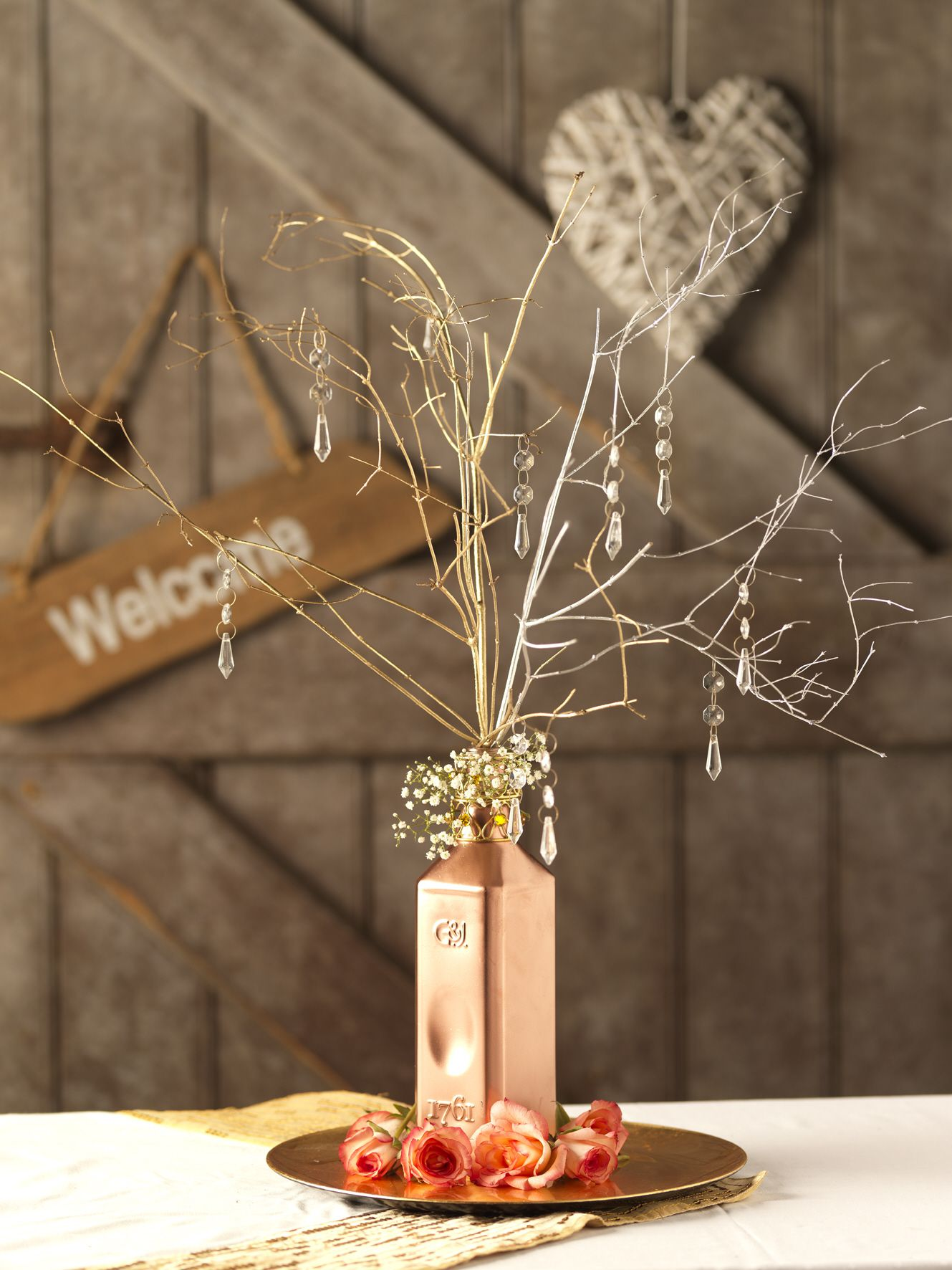 Rust-Oleum Wedding Branch Arrangement