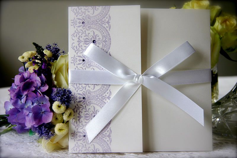 ivy-ellen-statement-stationery-Elegance Wedding Invitation in Pale Violet from 5.60 www.ivyellen.com