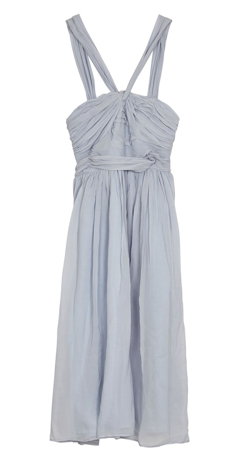 asos-bridesmaid-collection-ASOS Plain halter ruched midi dress_ú55