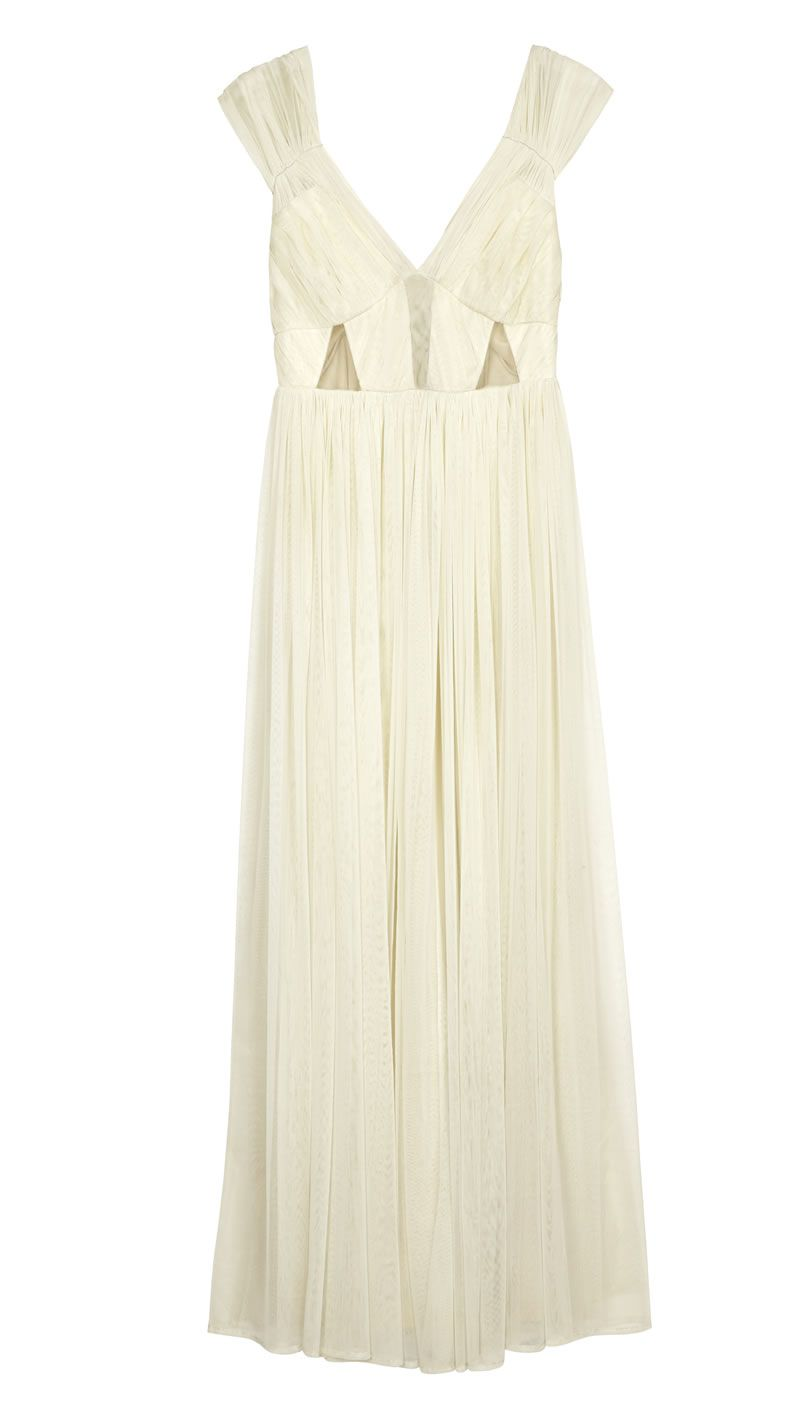 asos-bridesmaid-collection-ASOS Wedding Ruched Mesh Panel Maxi ú95 (2)