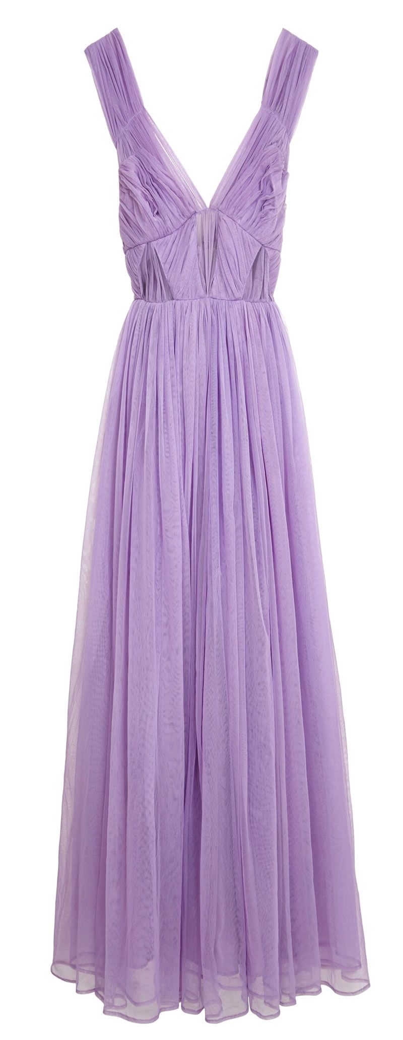 asos-bridesmaid-collection-ASOS Wedding Ruched Mesh Panel Maxi ú95