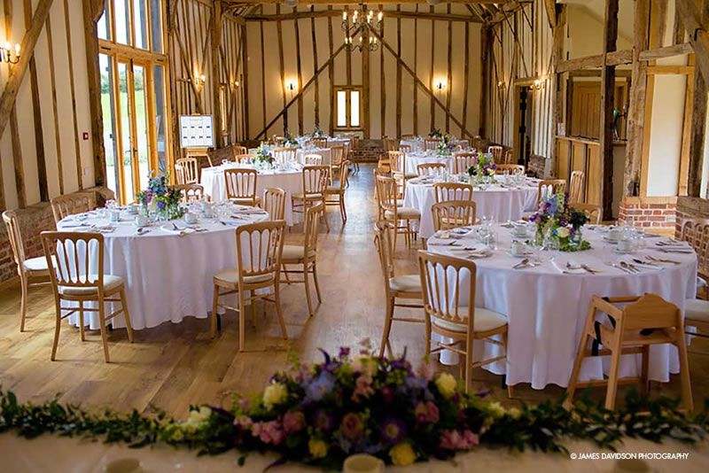 best-boutique-wedding-venues-Bruisyard-Hall-Wedding-set-up-in-the-Banqueting-Hall-2