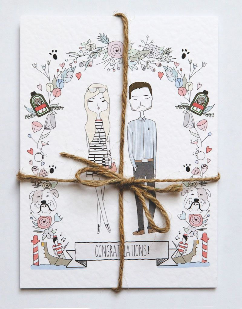 best-rustic-wedding-stationery-emmydesigns.co.uk Illustrated Invitation 01 £2.25 Emmy Designs