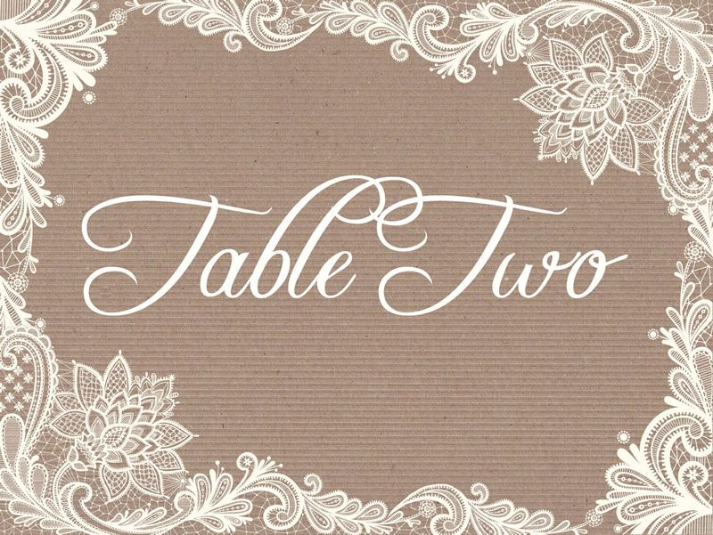 best-rustic-wedding-stationery-hiphiphooray.com Kraft and Lace Table Name by from £2