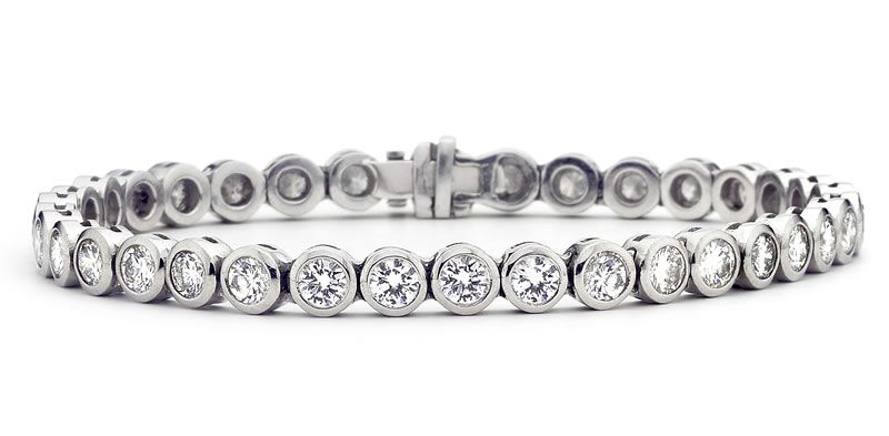 heirloom-london-Krieger platinum & diamond tennis bracelet