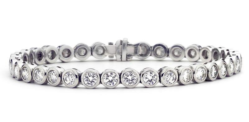 heirloom-london-Krieger platinum & diamond tennis bracelet