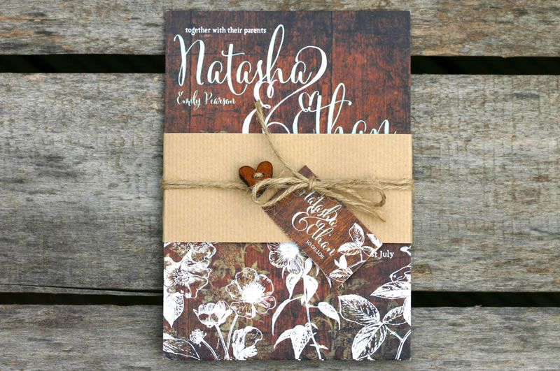 ivy-ellen-natural-Hedgerow Belly Band Wedding Invitation from £1.95 www.ivyellen.com