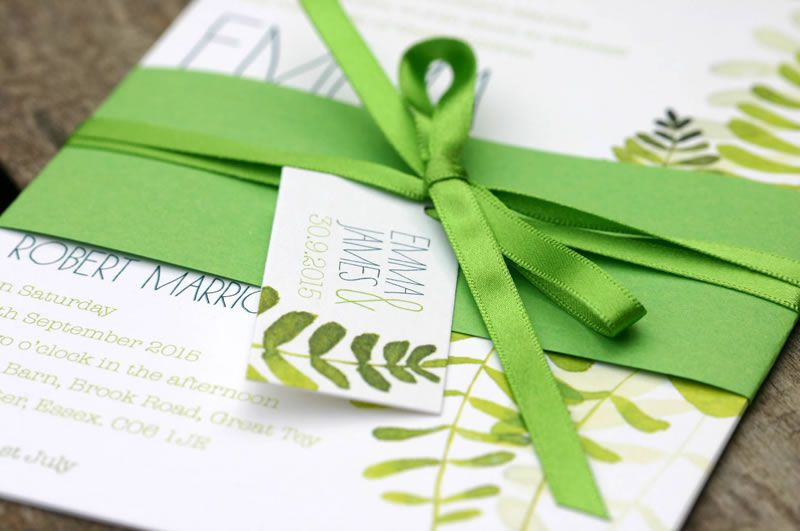 ivy-ellen-natural-Maiden Belly Band Wedding Invitation 2 from £1.95 www.ivyellen.com