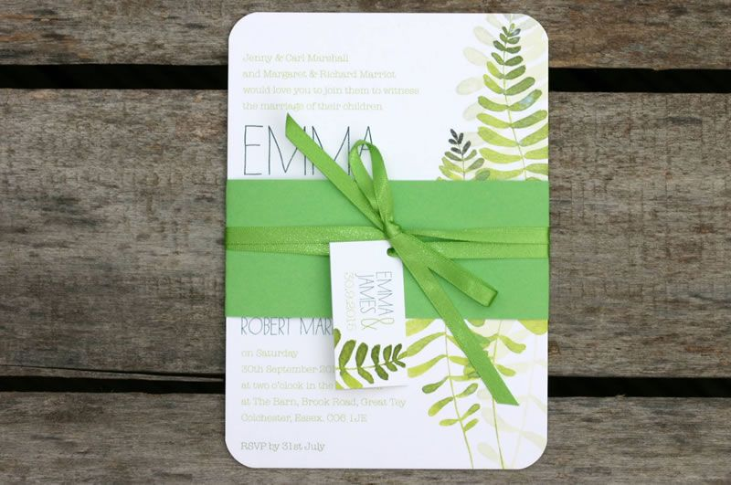 ivy-ellen-natural-Maiden Belly Band Wedding Invitation from £1.95 www.ivyellen.com
