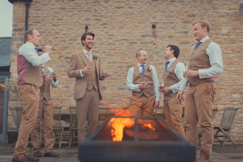 outdoor-wedding-venues-Winkworth-Farm-Groomsmen & Cigars