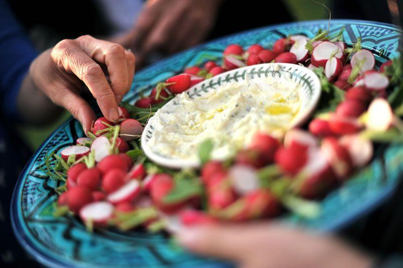 tom-summer-wedding-feast-2 Radishes with goat's curd