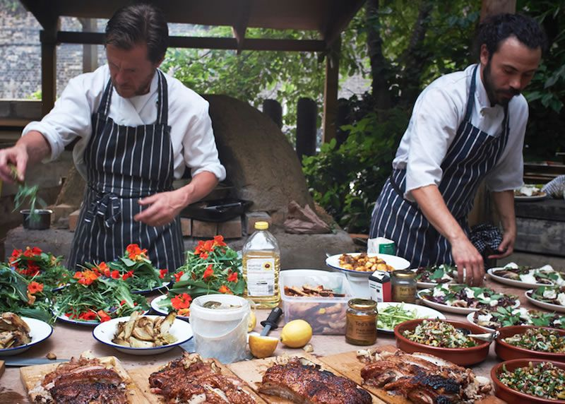 tom-summer-wedding-feast-3 Mise en place - main course