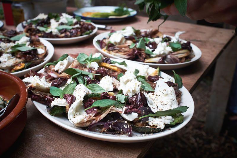 tom-summer-wedding-feast-5 Pak choi, courgette, mozzarella, basil