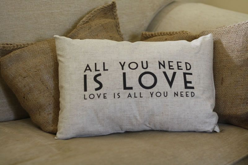15-gifts-for-your-bridal-party-theweddingofmydreams.co.uk all you need is love cushion £20 www.theweddingofmydreams.co.uk
