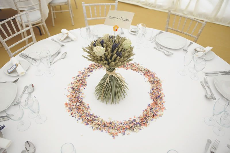 confetti-ideas-ShropshirePetals.com Cream Rose and Lavender Wheat Sheaf £24 and Summer Nights Confetti £11.25 per litre (2)