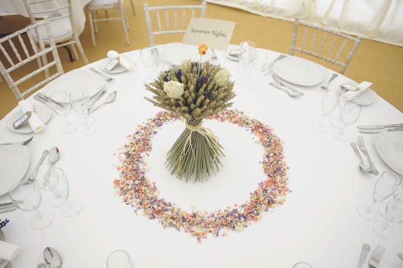 confetti-ideas-ShropshirePetals.com Cream Rose and Lavender Wheat Sheaf £24 and Summer Nights Confetti £11.25 per litre (2)