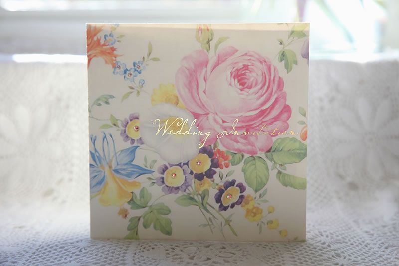 ivy-ellen-diy-stationery-Vintage Floral wedding invitation - 10 HRes