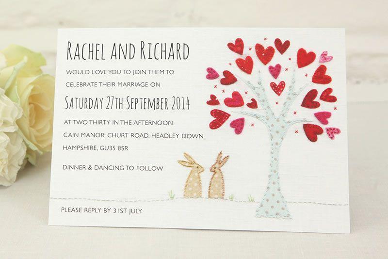 on-sale-may-Bunnies Wedding Invitation from £1.40 www.ivyellen.com