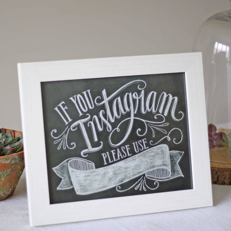 a-z-wedding-trends-save-Instagram hashtag Chalkboard Print 19 The Wedding of my Dreams (1)