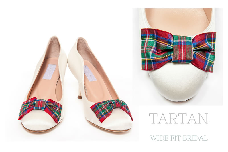 sargasso-shoes-wide-fitting-shoes-Tartan wide fit bridal