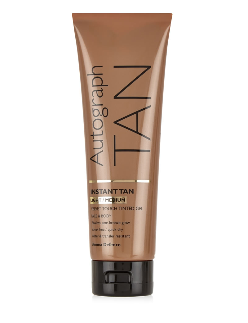 best-fake-tans-emily-berryman-Autograph Tan Instant Tan Velvet Touch Tinted Gel for Face & Body in Light Medium