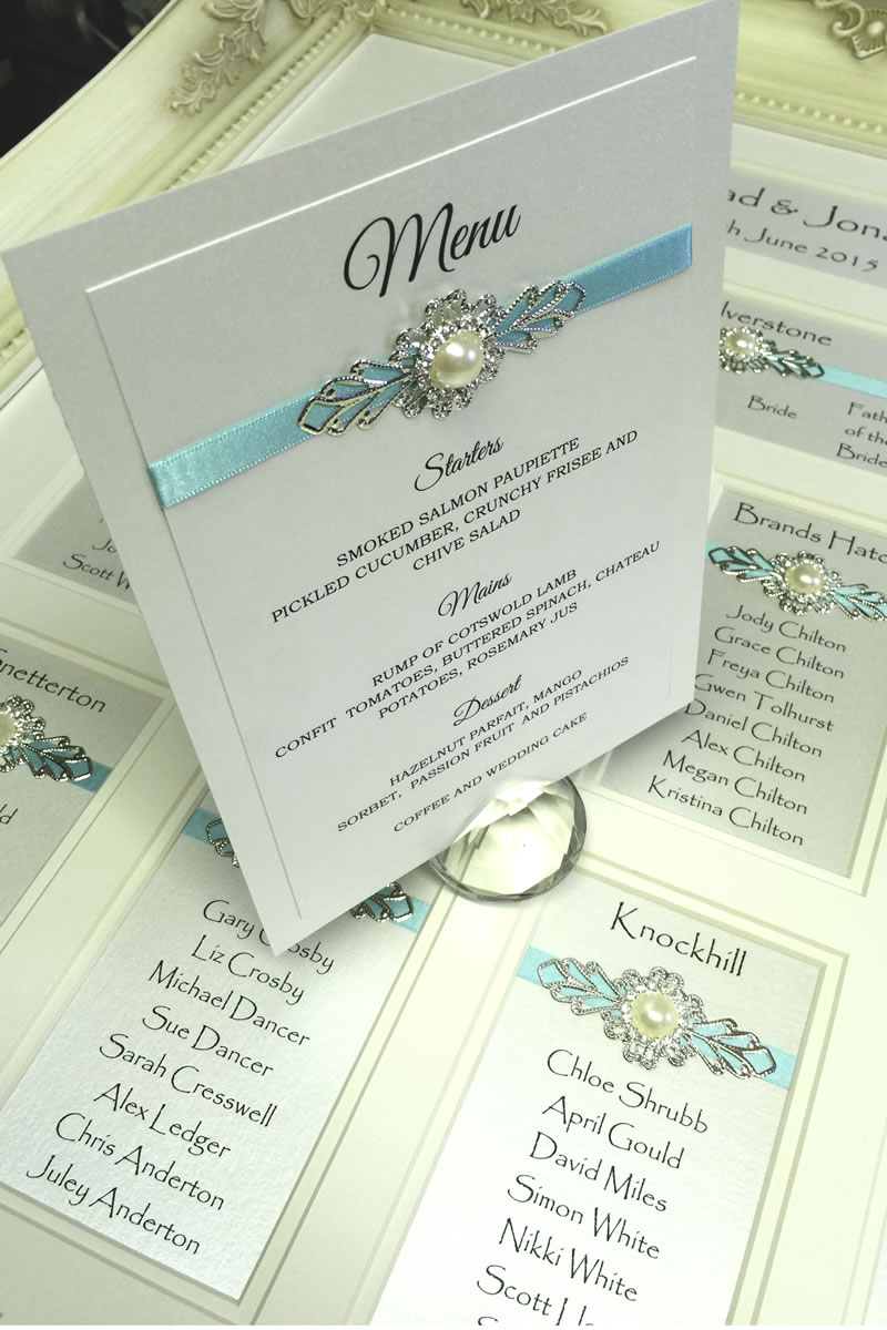 elegant-wedding-stationery-Sheer Romance with menu