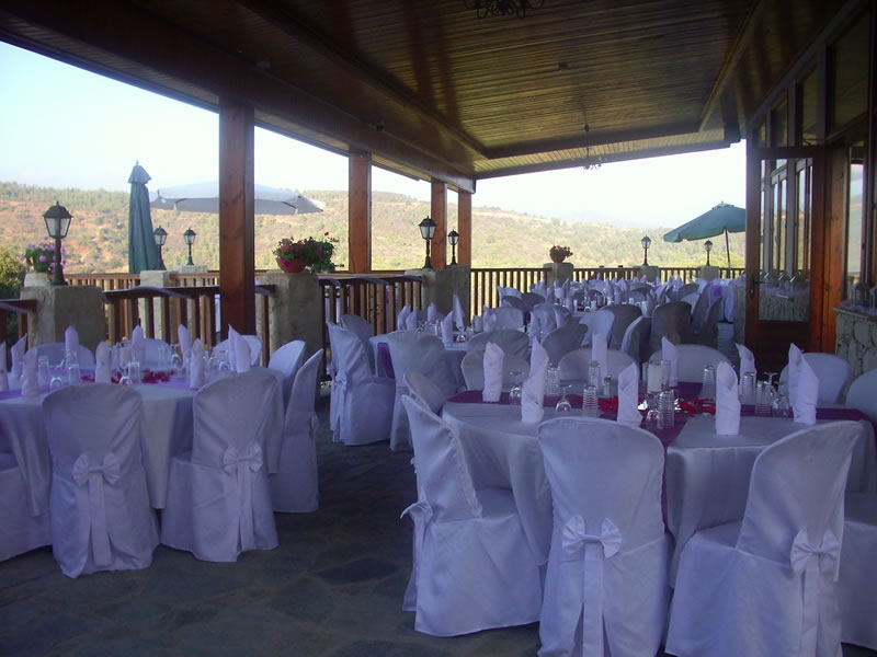 things-couples-forget-getting-married-abroad-Paradisos Hills Hotel - tables