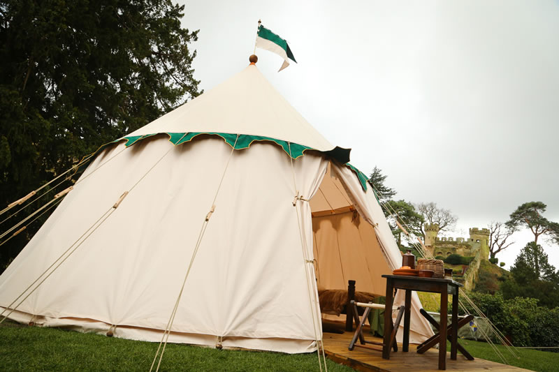 glamping-warwick-castle-Castle Tent exterior