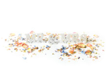 quirky-confetti-ShropshirePetals.com Mr and Mrs sign with confetti from £11.50 per litre