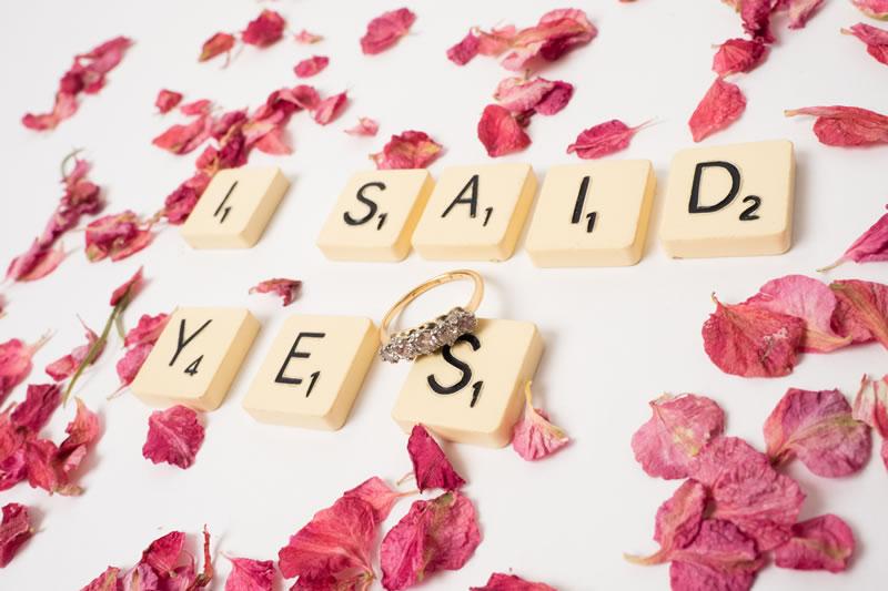 quirky-confetti-ShropshirePetals.com Shropshire Petals Scrabble - I Said Yes (3)