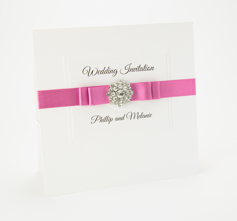 readers-offers-150-littlegemsweddings.co.uk Little Gems Weddings - Allure Wedding Invitation - Hot Pink - from ú3.00 - img029