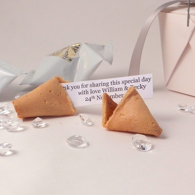 readers-offers-150-personalised wedding fortune cookies - unique wedding favours-1
