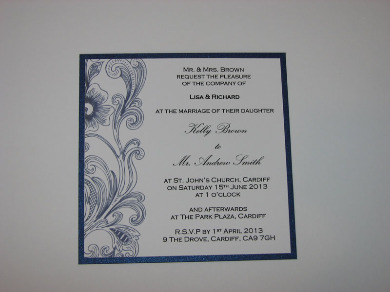 readers-offers-150-tohaveandtoholdweddingstationery.co.uk, navy floral invite, from ú1.50